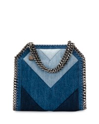 Stella Mccartney Patchwork Mini Denim Tote Bag Blue
