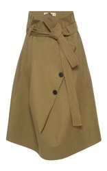 Marni Paper Bag Waist Skirt Brown