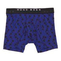 Boss Two Pack Black And Blue Patterned Boxers