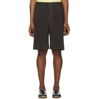 Homme Plisse Issey Miyake Brown Outer Mesh Shorts