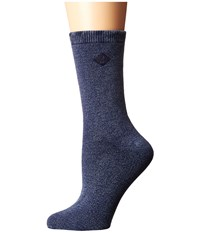Sperry Solid Salt Wash Full Cushion Crew Navy Women's Crew Cut Socks Shoes