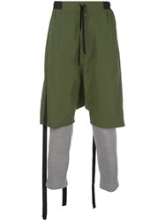 Unravel Project Bi Material Track Trousers Green