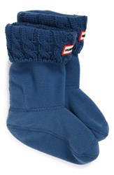Hunter Cable Knit Cuff Welly Socks