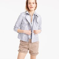 J.Crew Collection Striped Cropped Trench Coat