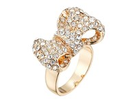 Guess Pave Bow Ring Gold Crystal Ring