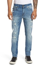 True Religion Men's Big And Tall Brand Jeans Rocco Skinny Fit Jeans Worn Riff