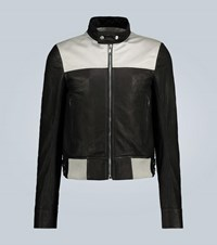 Rick Owens Leather And Canvas Jacket Black