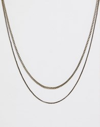 Icon Brand Double Neck Chain In Gold