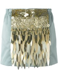 N 21 No21 Sequin Embellished Mini Skirt Blue