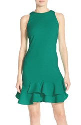 Chelsea 28 Women's Chelsea28 Tiered Ruffle Hem Dress Green Ultra