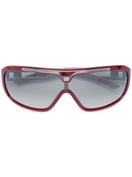 Jean Paul Gaultier Vintage Cut Out Detail Sunglasses Red