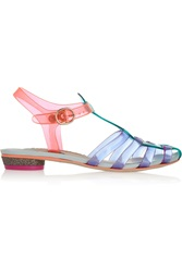 Sophia Webster Violeta Vinyl And Leather Sandals