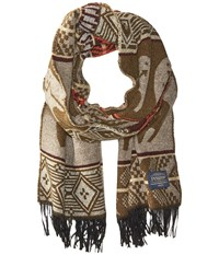 Pendleton Jacquard Muffler Star Guardian Tan Scarves Brown