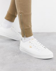 Creative Recreation Textured Leather Trainers In White