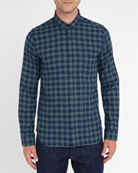 M.Studio Armand Checked Monti Fabric Flannel Slim Fit Shirt With Classic Collar