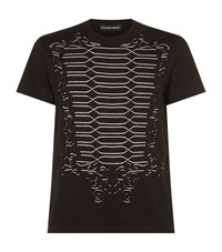 Alexander Mcqueen Military Cut Out T Shirt Male Black