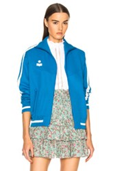 Etoile Isabel Marant Darcy Sporty Knit Track Jacket In Blue