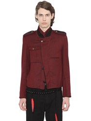 Ann Demeulemeester Woven Cotton Military Casual Jacket