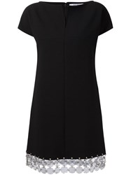 Paco Rabanne Plastic Circles Trimmed Dress Black