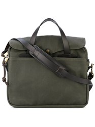 Filson Original Briefcase Men Cotton Leather One Size Green