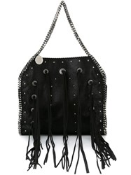 Stella Mccartney 'Falabella' Fringed Tote Black