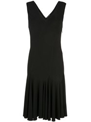 Josie Natori Stretch Viscose Dress Black