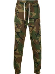Polo Ralph Lauren Camouflage Print Track Trousers Green
