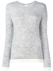 Moncler Classic Crew Neck Sweater Grey
