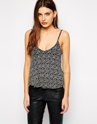 Club L Glitter Shimmer Cami Top Gold
