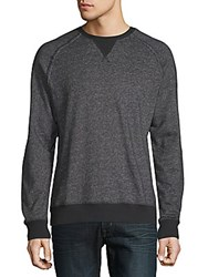 2Xist Heathered Raglan Sleeve Sweatshirt Black Heather
