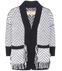 Burberry Glasshouse Wool Cardigan White