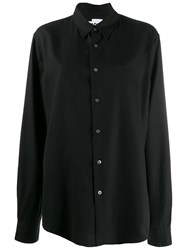 Hope Plain Button Shirt Black