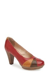 Women's Blondo 'Valence' Waterproof Platform Pump Red Moss Tan