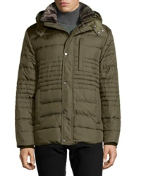 Marc New York By Andrew Marc Damien Hooded Down Puffer Coat Olive