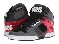 Osiris Nyc83 Dark Grey Red Men's Skate Shoes Gray