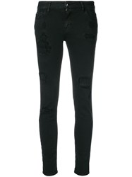 Just Cavalli Distressed Skinny Jeans Black