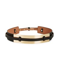 Bcbgmaxazria Faux Leather Goldtone Plated Belt Black