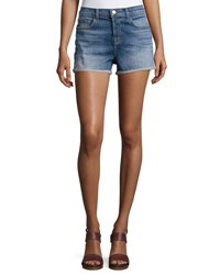 J Brand Gracie High Rise Cuffed Shorts Jagger Blue