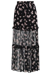 Miss Selfridge Maxi Skirt Multi Bright Black