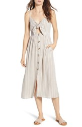 Mimi Chica Button Front Keyhole Dress