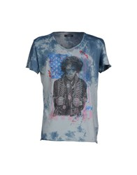 Gaudi' Topwear T Shirts Men Slate Blue