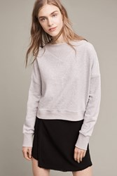 Anthropologie Heather Ribbed Pullover Light Grey