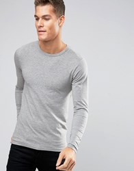 Jack And Jones Long Sleeve T Shirt In Regular Fit Grey