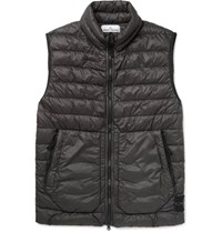 Stone Island Quilted Garment Dyed Shell Down Gilet Gray