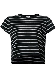Re Done Striped Boxy T Shirt Black