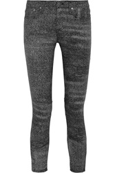 Helmut Lang Printed Mid Rise Skinny Jeans