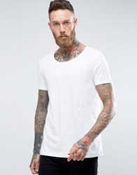 Asos T Shirt With Scoop Neck In White White