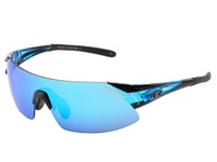 Tifosi Optics Podium Xc Mirrored Golf Interchangeable Crystal Blue Clarion Blue Gt Ec Lens Athletic Performance Sport Sunglasses Black