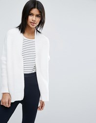 Asos Cocoon Cardigan With Zip Cream