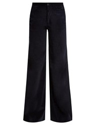 Connolly Needle Wide Leg Corduroy Trousers Navy